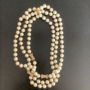 Kate Spade long pearl necklace